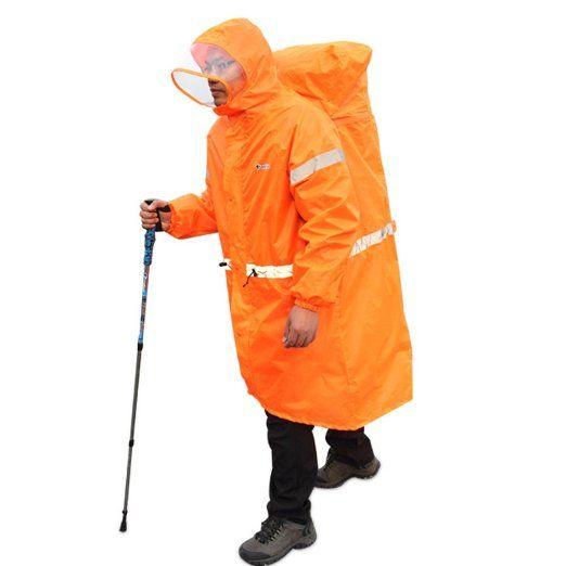 Triwonder Backpack Tarp Rain Cover Raincoat Poncho Rain Cape for Outdoor Hiking Travel Camping
