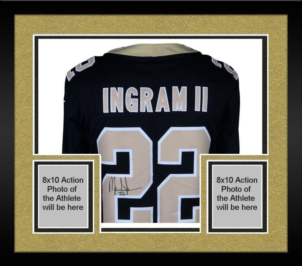 8ed3299cc Framed Mark Ingram New Orleans Saints Autographed Black Nike Limited Jersey