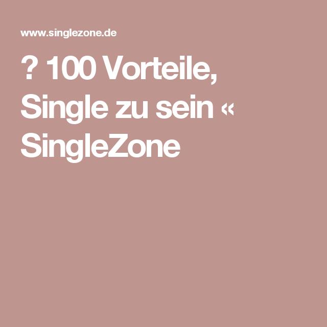 Die Vorteile, Single zu sein