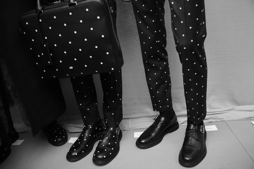 Dior Homme AW14 Backstage- dots   Dior homme   Pinterest   Dior ... 20f062ae9b27