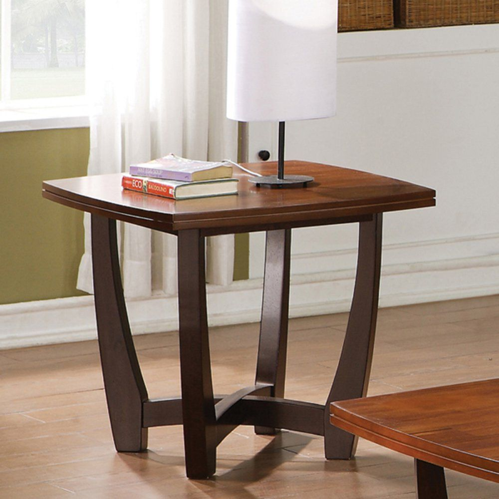 Steve Silver Company Lv200c Livonia Square Cocktail Table: Steve Silver Kenzo Square Cherry Wood End Table