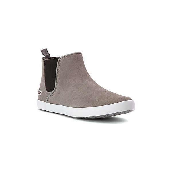 Lacoste Women's Ziane Boots (140 CAD) ❤ liked on Polyvore featuring shoes, boots, ankle booties, real leather boots, slip on leather boots, slipon boots, slip on booties and chelsea ankle boots