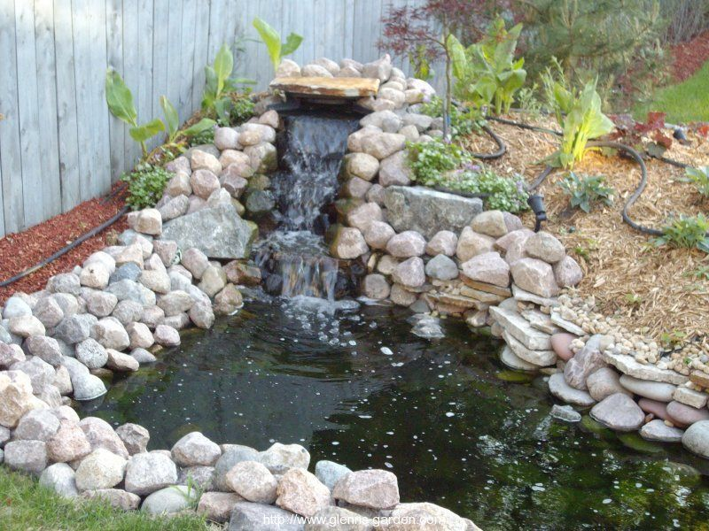 Small pond waterfall ideas garden pond ideas outdoor for Outside pond ideas