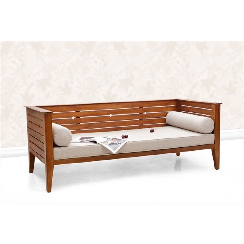 This Teak Wood Daybed Suitable For Indoor Use As Sofa We Do Manufacturer Teak Daybed Wooden Sofa Sofa Bed Coffeetable A Wooden Daybed Wood Daybed Furniture