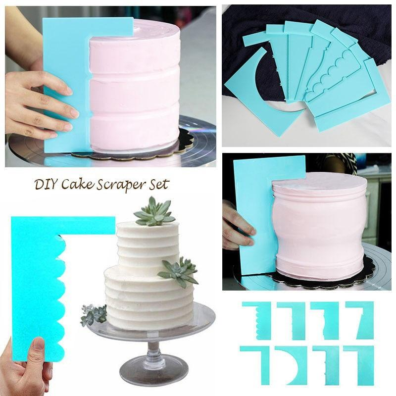 kit cake design professional 2-Style Cake Scrapers – Trends.Bargains  Cake decorating