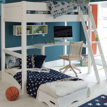Ae Warwick High Sleeper With Futon White Kids Beds