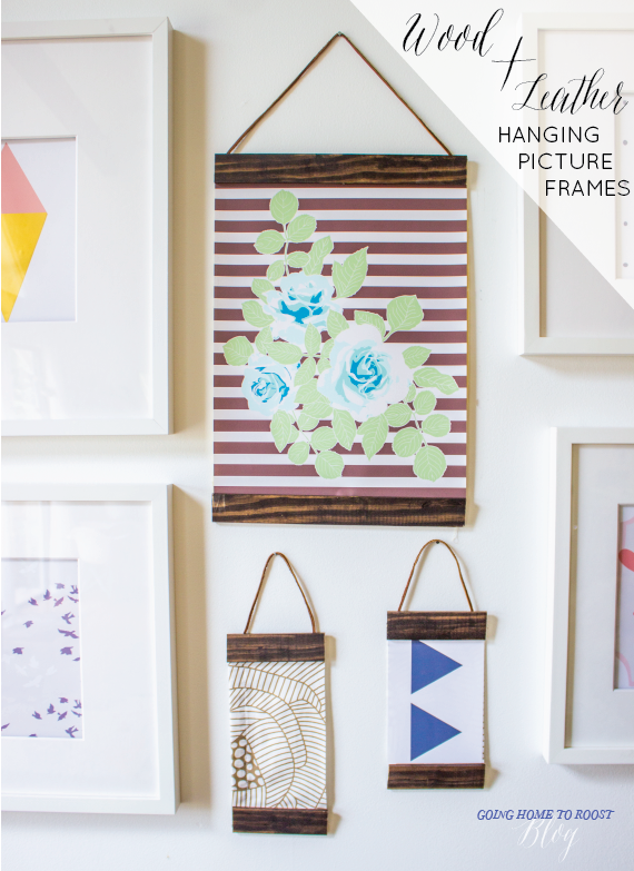 make your own wood + leather hanging picture frames! | MAKE ME ...
