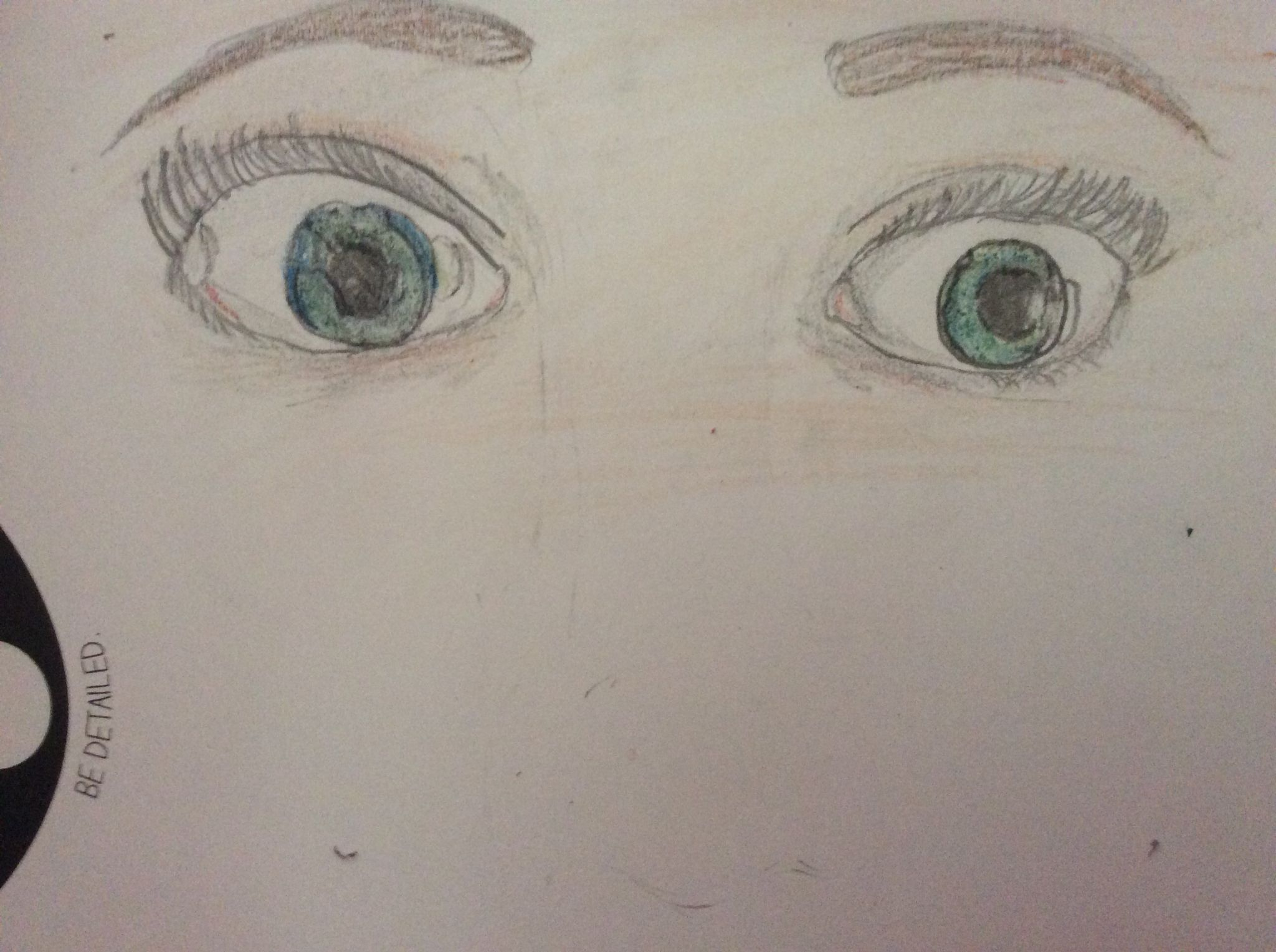 Drawing of my eyes.