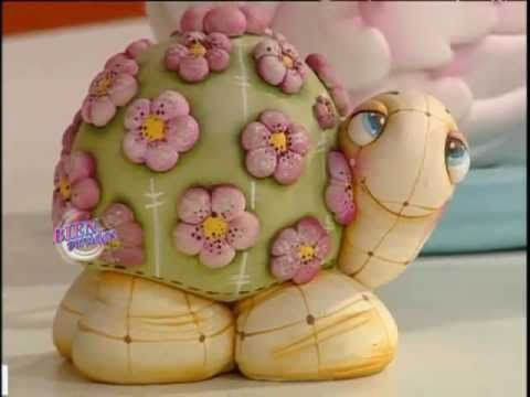 Tortugas bebé en porcelana fria paso a paso - Imagui