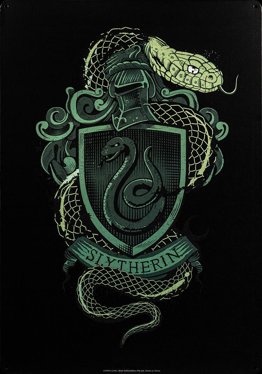Harry Potter Slytherin House Crest Tin Sign Harry Potter Background Harry Potter Wallpaper Harry Potter Poster