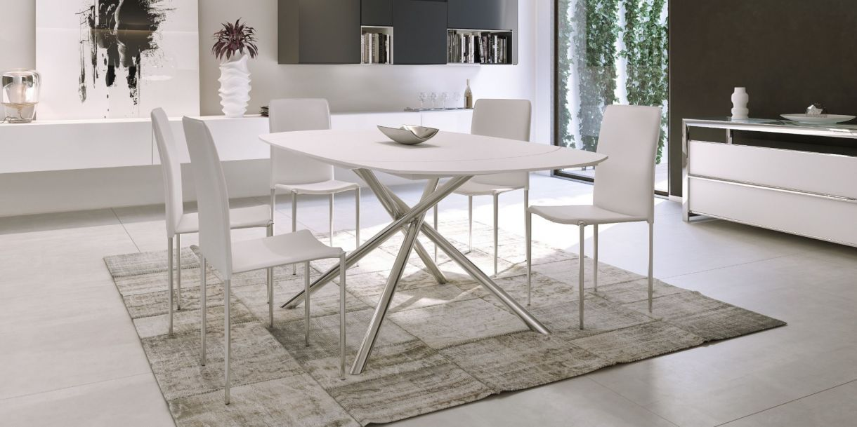 Astro Extendable Dining Table White Dining Table Extendable