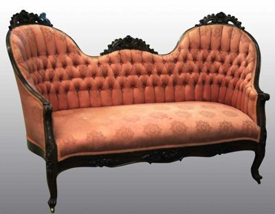 Incredible Pastel Peach Victorian Couch Victorian Decor Victorian Pabps2019 Chair Design Images Pabps2019Com