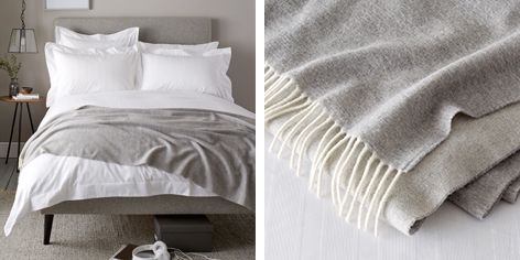 Buy Luxury Wool Cashmere Throw From The White Company Bed