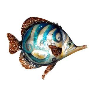 Eangee Home Design Swirl Fish Wall Decor