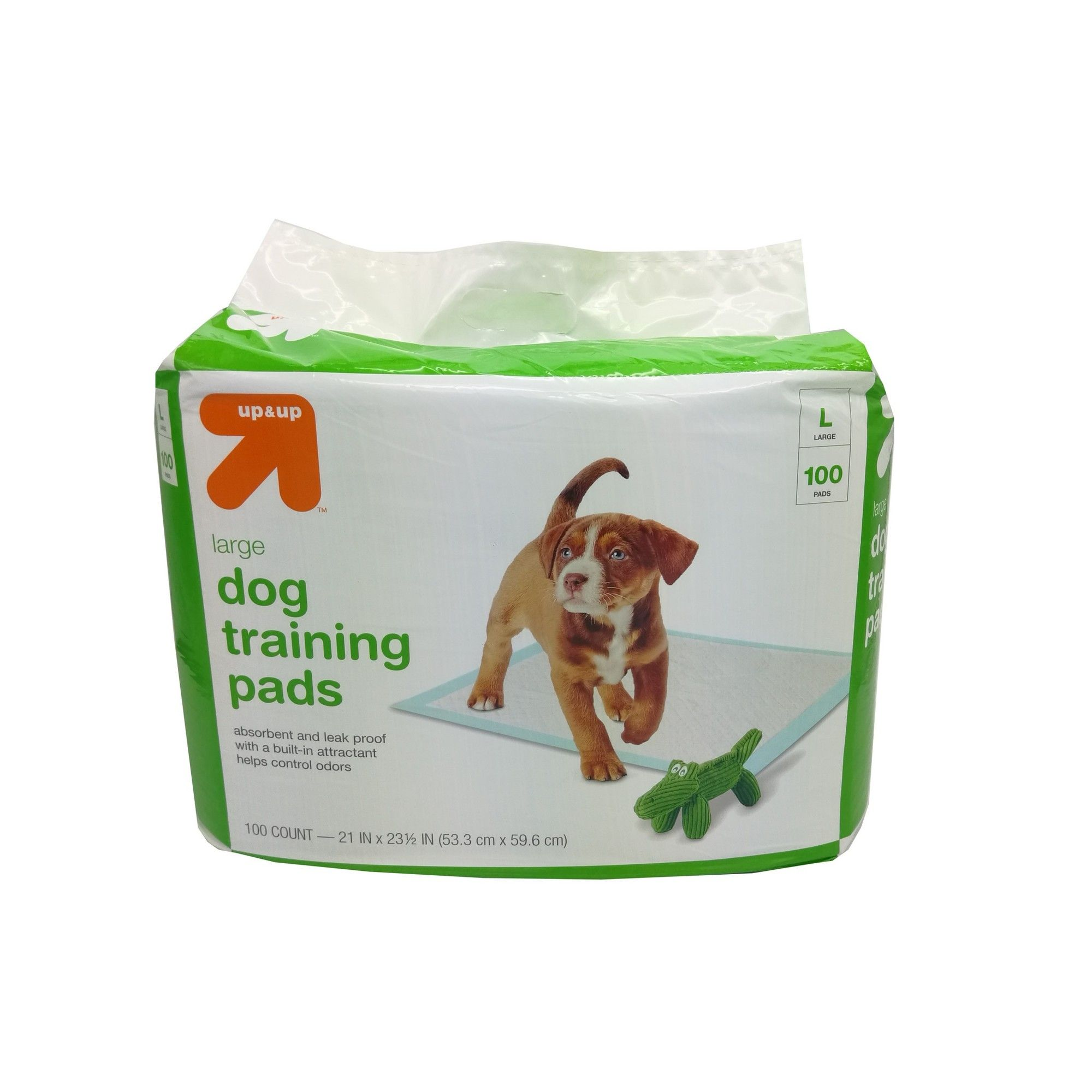 Puppy And Adult Dog Training Pads L 100ct Up Up White