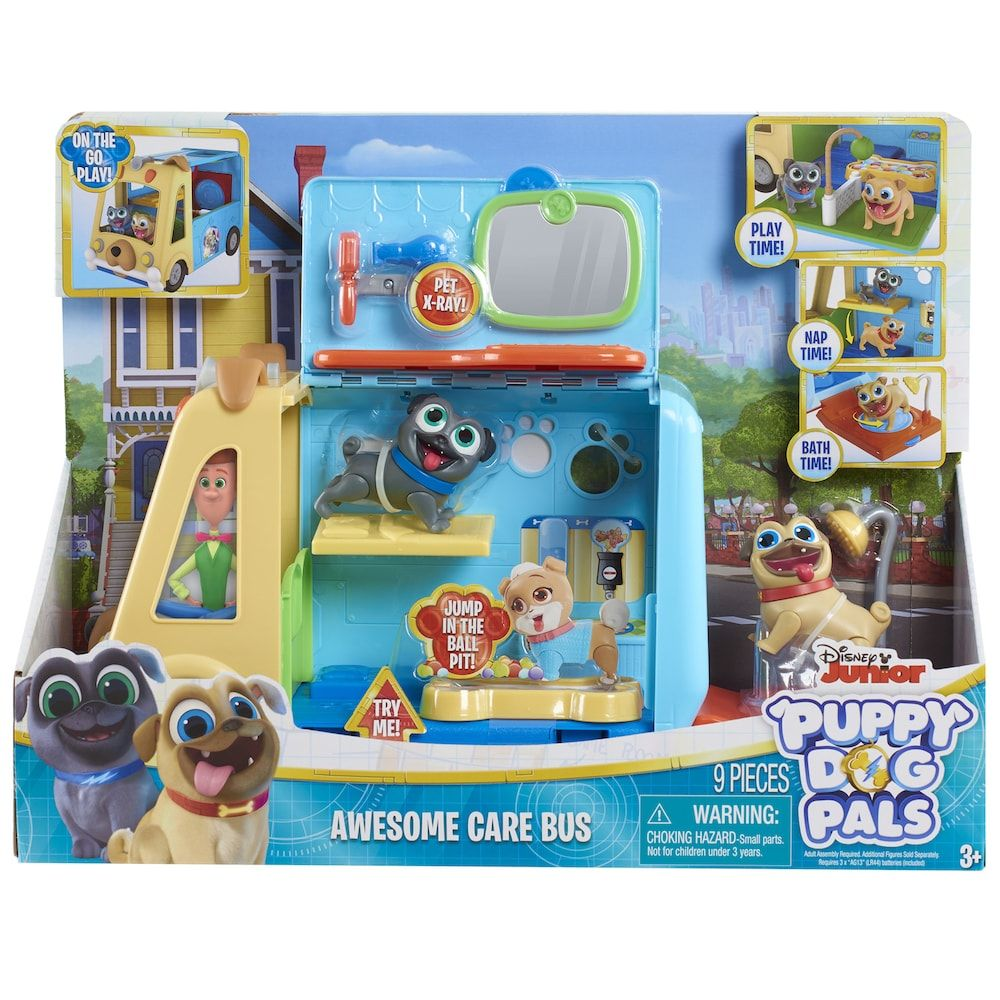 Disney S Puppy Dog Pals Awesome Care Bus In 2020 Dogs Puppies