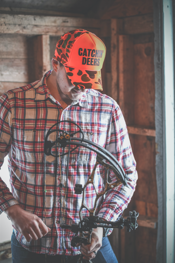 2351042dbb8 Blaze Orange Camo Trucker Hat