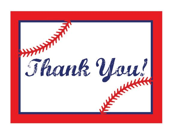 Baseball Themed Thank You Notes by JamieSikesDesigns on Etsy, $750