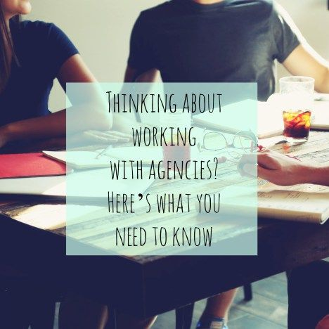 Thinking about working with agencies? Here's what you need to know. http://lorriehartshorn.com/index.php/2016/06/20/thinking-about-working-with-agencies-heres-what-you-need-to-know/