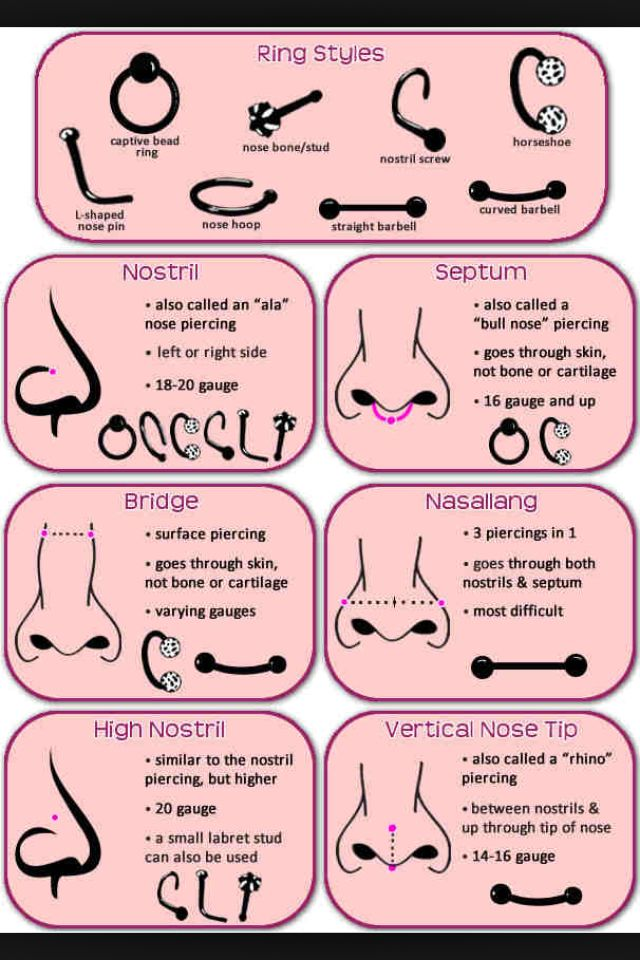 Good To Know Piercing Chart Piercings Different Types Of Piercings