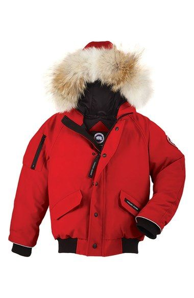 Canada Goose Rundle Down Bomber Jacket With Genuine Coyote Fur Trim Little Kid Big Kid Available At Nordst Kids Clothing Canada Fur Jacket Women Jackets