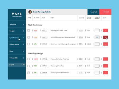Timesheet Dashboard | Dashboard UI/UX | Dashboard design, Ui