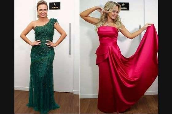 """""""Modelagens clássicas, mesmo em peças bem diferentes. Ambos os vestidos valorizam o colo e marcam a ... - Foto: Instagram"""
