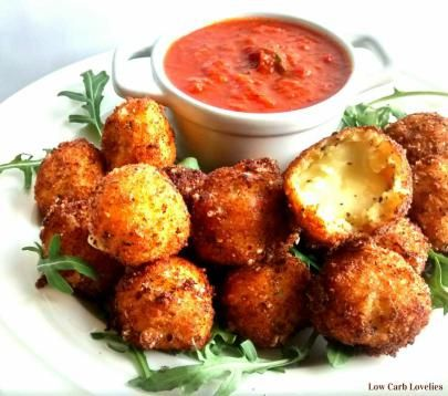 (1) Crispy Fried Bocconcini w Smoky Tomato Sauce - by Low Carb Lovelies (2)