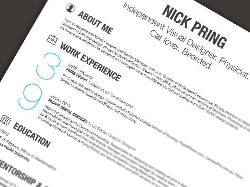 My Resume 2 | PERSONAL :: Resume Tips | Pinterest | Resume styles ...
