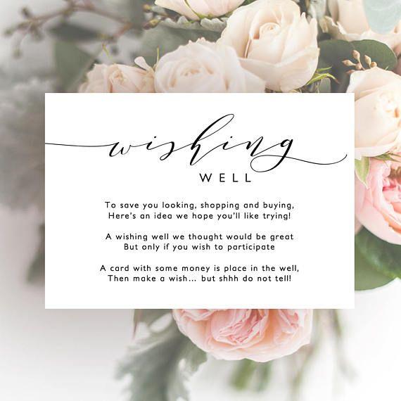 Wishing Well Printable Template Printable Wedding Wishing Etsy Wedding Welcome Letters Wedding Invitation Wording Wishing Well
