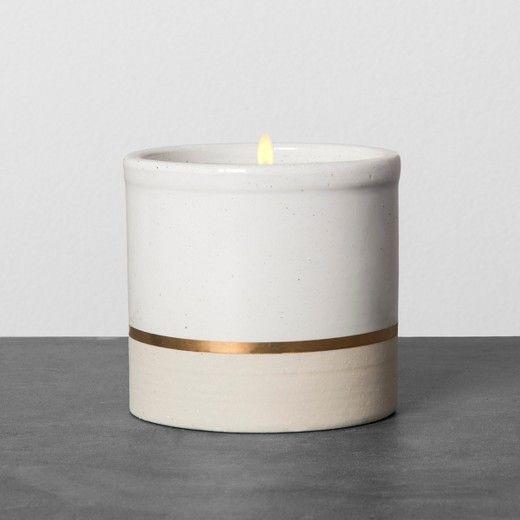Ceramic Candle   Juniper Water U0026 Aloe   Hearth U0026 Hand With Magnolia, Gray    Hearths, Ceramic Jars And Magnolia