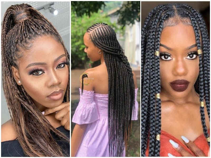 2021 Black Braided Hairstyles For Ladies Most Trendy Hairstyles Hair Styles African Hair Braiding Styles Womens Hairstyles