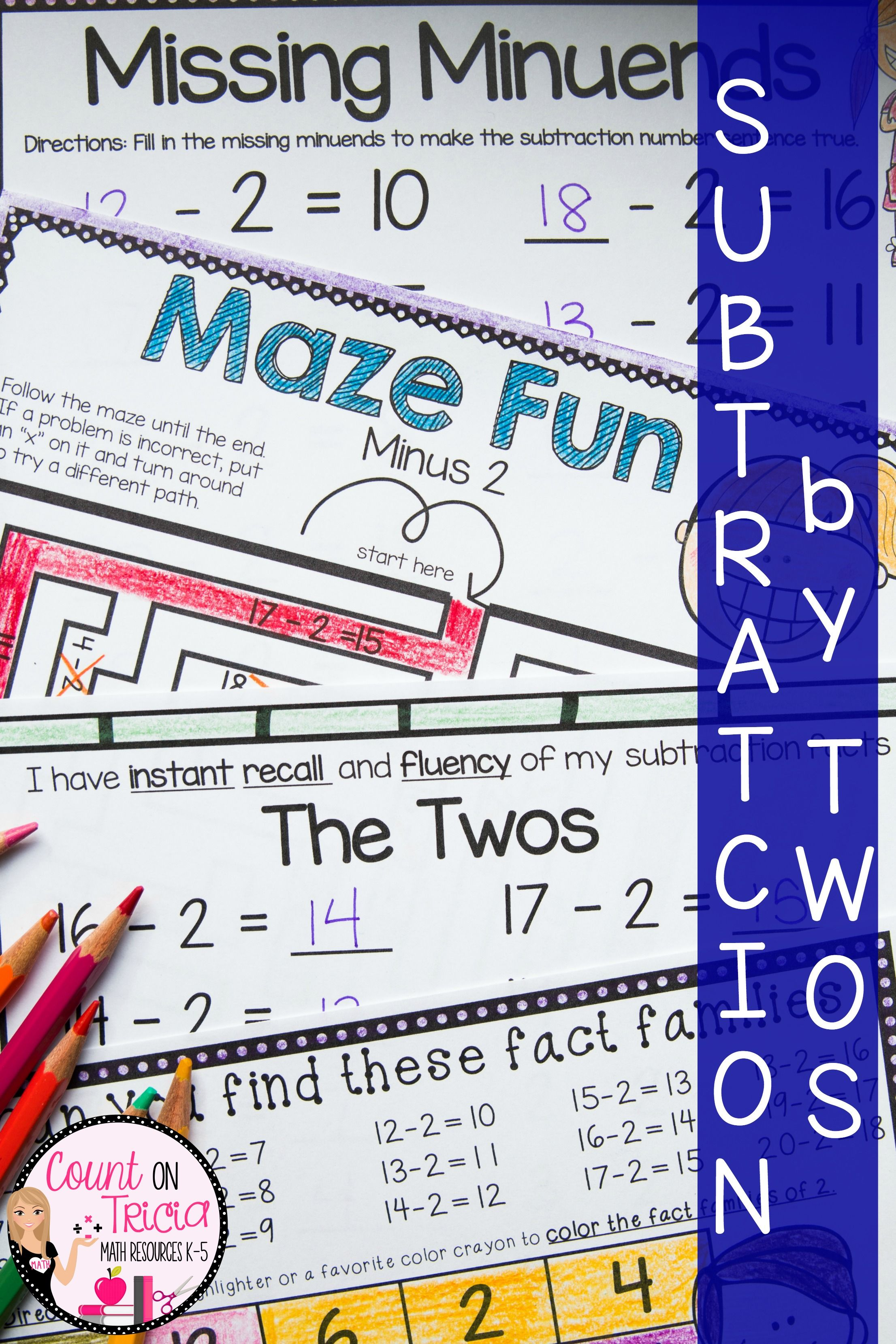 Subtraction Worksheet Kindergarten With Images