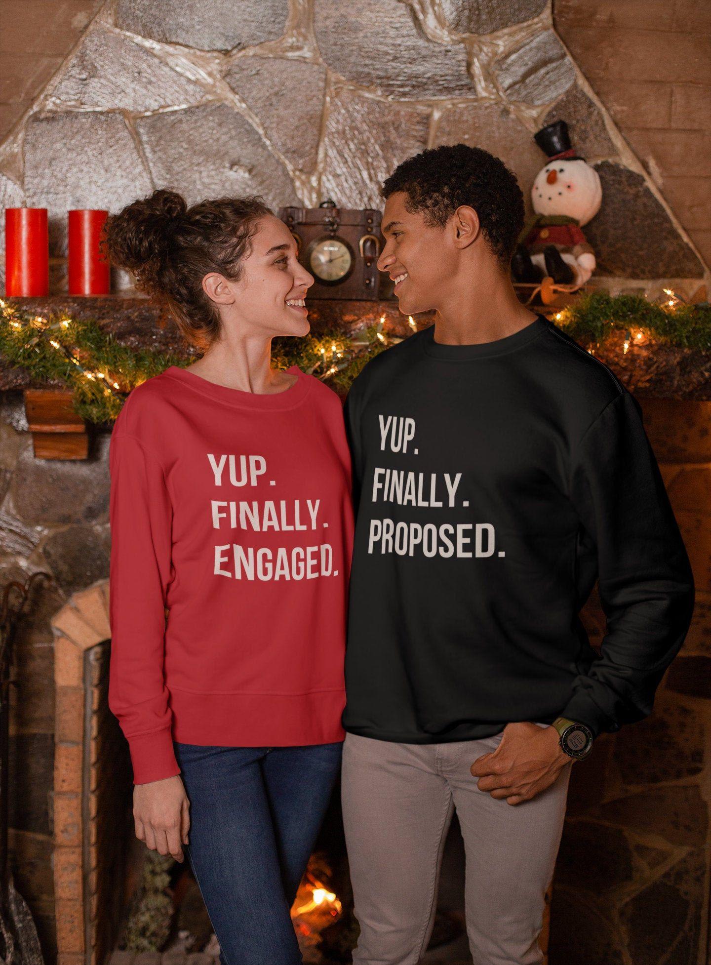 Valentine's Day Unisex Sweatshirt Yup Finally Proposed
