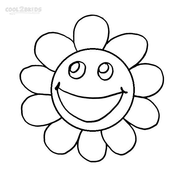 Printable Smiley Face Coloring