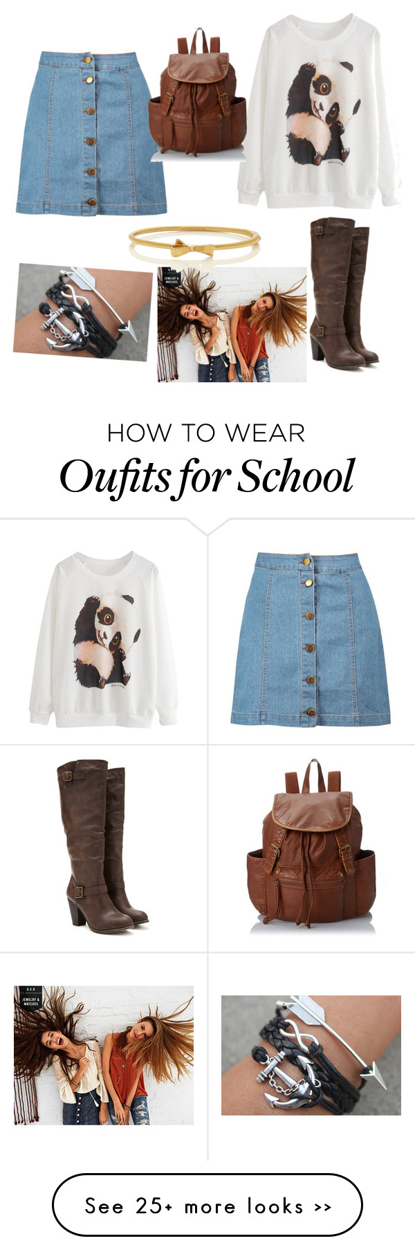 """""""school"""" by chrisfashion21 on Polyvore featuring Boohoo, Forever 21, American Eagle Outfitters, Kate Spade and LULU"""