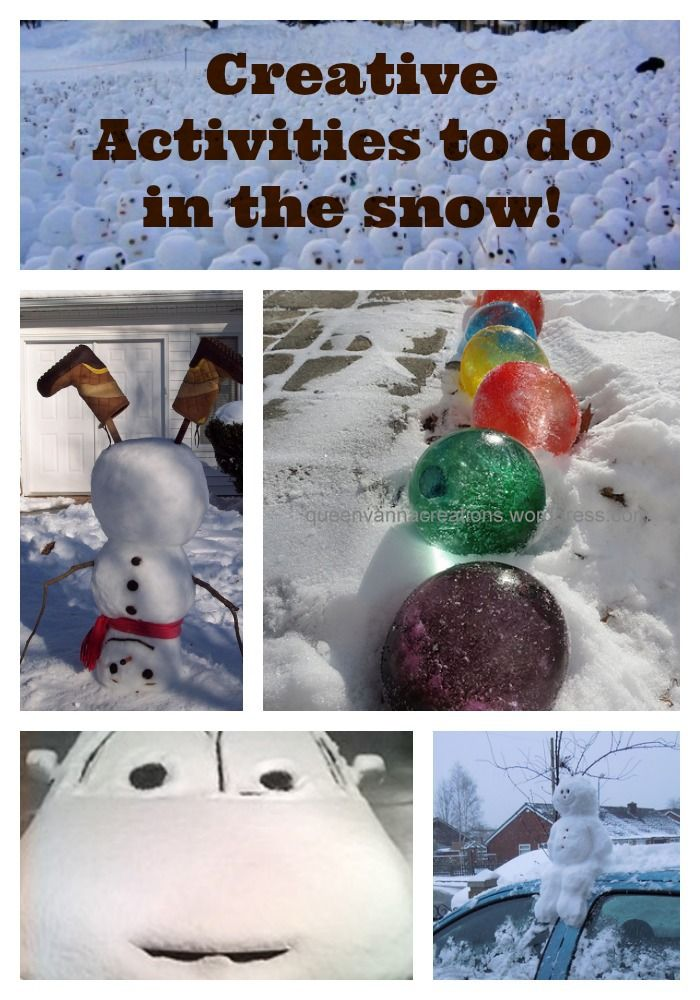 Creative Activities To Do In The Snow Might Be Needing This Later