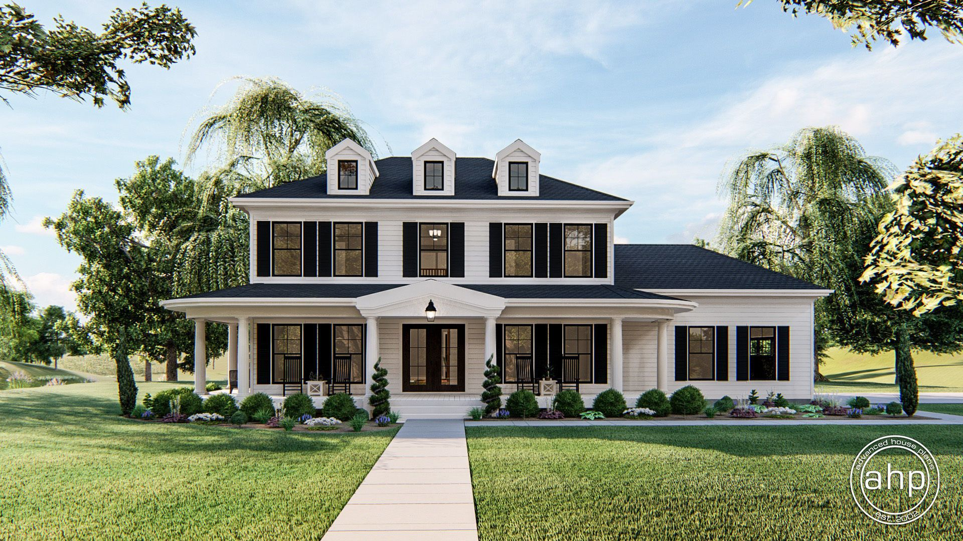 Charleston 2 story southern house plan colonial house