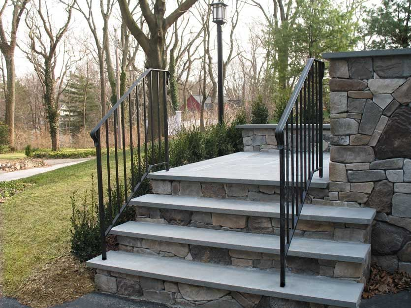 Best Standard Railing Post Road Iron Works Exterior Stairs 400 x 300