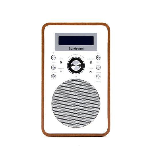 Captivating Sandstrøm S6VDAB12 DAB Clock Radio   Walnut   Sandstrøm Style