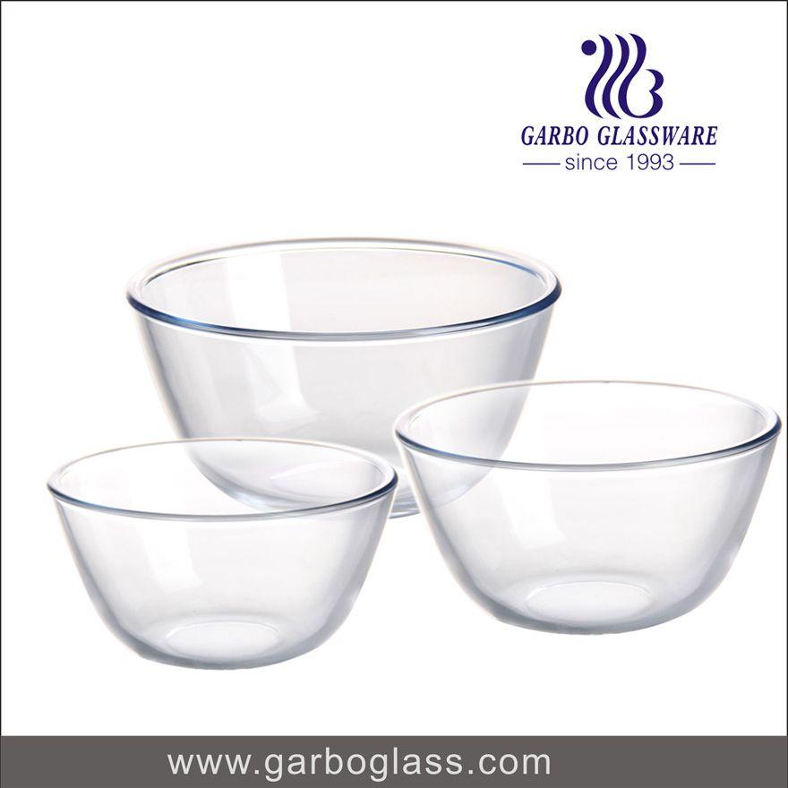 3 Set Baking Bowl Set Microwave And Oven Safe Baking Bowl Bowl Glass Bowl