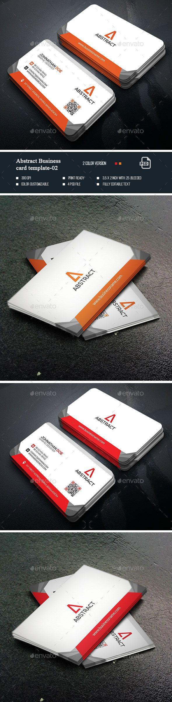 Abstract Business Card Templates-02   Tarjetas de presentación y ...