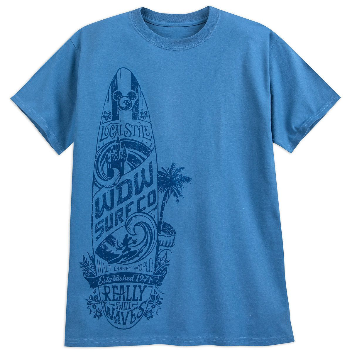 7d6f4098 Product Image of Mickey Mouse ''Surf Co.'' T-Shirt for Adults - Walt Disney  World # 1
