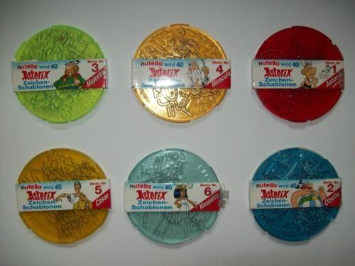 6 neue Nutella Zeichenschablonen Asterix Schablonen in