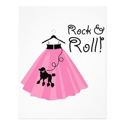 b0b115f9a4 Falda del caniche del rock-and-roll plantillas de membrete