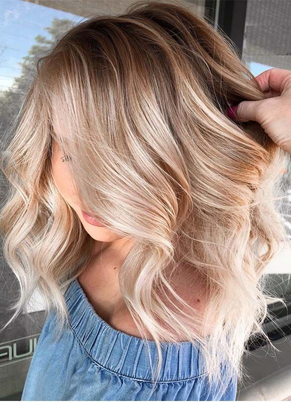 Pretty Shades Of Balayage Hair Colors for Women in 2019   Modeshack #blondehair