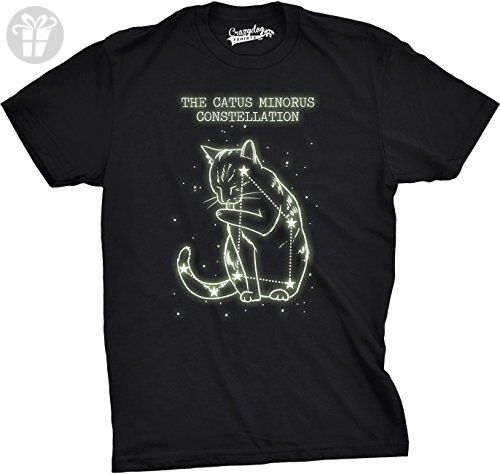 The Catus Minorus Constellation Glow In The Dark T Shirt Funny Cats Tee (black) L - Birthday shirts (*Amazon Partner-Link)