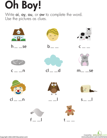 Collection of Dipthong Worksheets - Sharebrowse