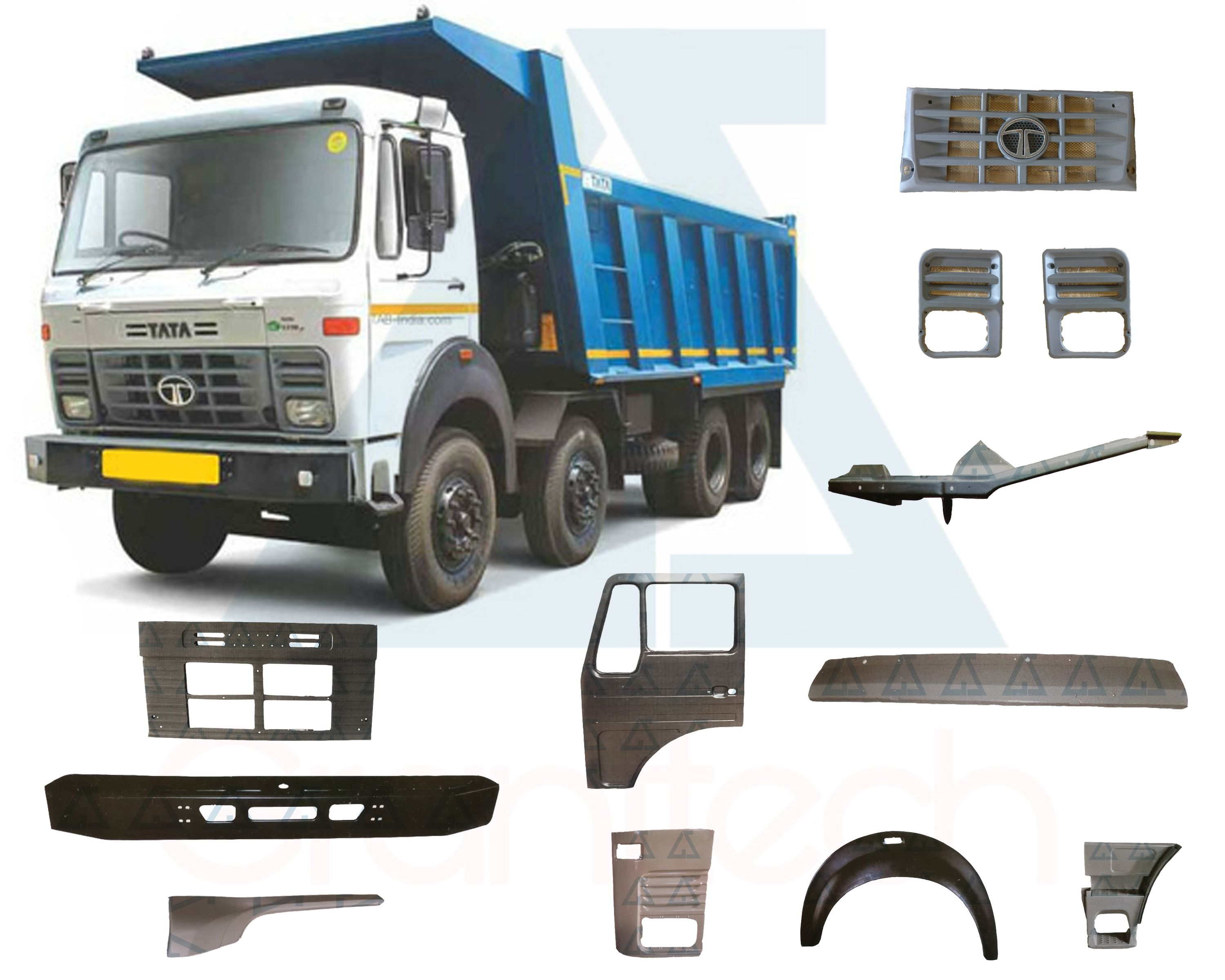 Tata LPK 2518 Tipper Body Parts, Tata LPK 1618 Body Parts, Tata LPK 3118 TC  Body Parts, Tata Hyva Body Parts, Tata Hywa Body Parts, Tata Non-Sleeper  Cabin ...