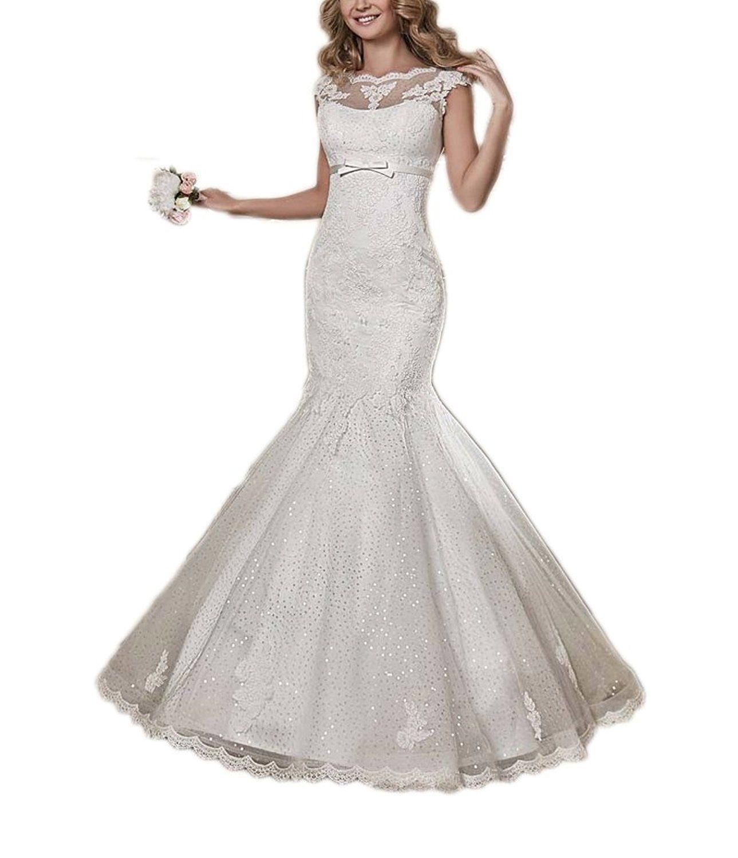Rightbride white womenus wedding dresses for bride mermaid long